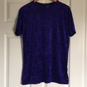 Sheer Velour River Island Top
